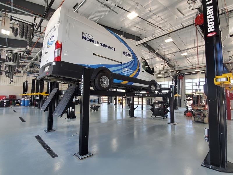 Laird Noller Service Truck on Lift